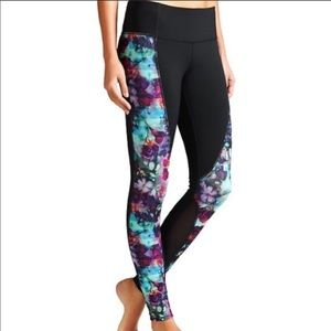 ATHLETA WOMENS FLORAL FADE ANKLE TIGHT SIZE SMALL